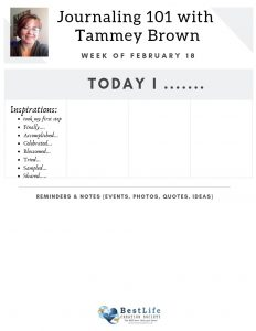 Journaling 101 with Tammey Brown Layout Ideas Worksheet