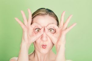 image of woman making a funny face